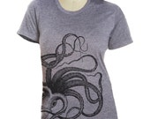 Womens OCTOPUS t shirt S M L XL  ( 6 colors ) skip n whistle