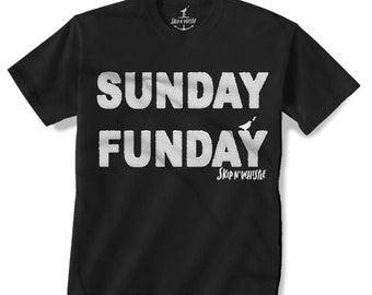 SUNDAY FUNDAY -- KIDS T shirt -- (7 color choices) Size 2t, 3t, 4t, youth xs, yth sm, yth med, yth lg
