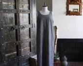 simple minimalist linen sack dress