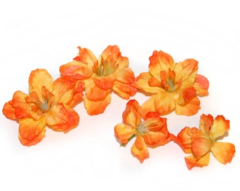 5 Lazy Flame Delphinium - 3- 4 layers - Silk Flowers, Artificial Flowers
