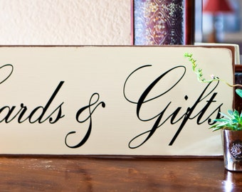 8x20 Cards & Gifts Signage for Wedding Reception. Can be personalized