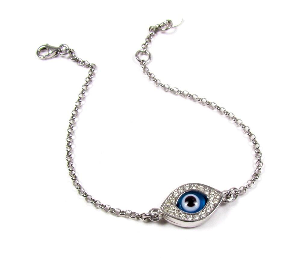 Evil Eye Bracelet Gold Diamond