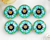 10pcs 12mm (GC12-901) Handmade Photo Glass Cabochon