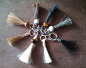 Custom Order Your Horsehair Zipper Pull - Tassle - Purse Charm