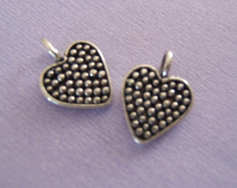 Sweet Sterling Silver Little Heart -  Charms or Dangles