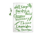 Herb Tea Towel - 100% Organic Cotton