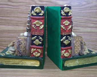 Gone Fishing Bookends. Vintage. 4548