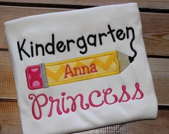 Personalized Kindergarten Princess Shirt