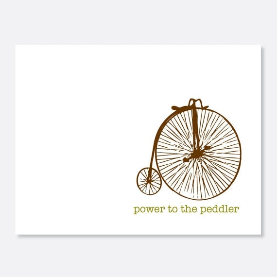 Power to the Peddler Greeting Card