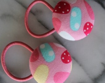 Jelly bean pony tail holders make adorable party favors, gifts, everyday hair accessories
