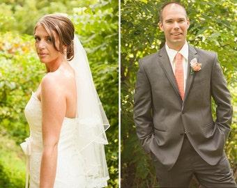 Coral Wedding Neckties, Orange Neckties, Wedding Neckties, Custom Neckties