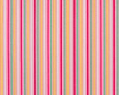 Narrow Stripes Fabric by Quilt Gate 9 Stripe Per Inch Striped White and Multicolored Yellow Pink Blue