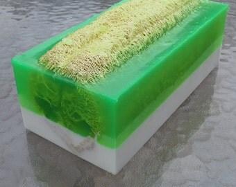 Bergamot Loofah Soap Loaf