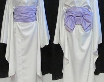 White Kimono Any Color Obi Shizuka Hio Vampire Knight Wedding Costume Cosplay Size 4 6 8 10 12 14