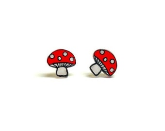 Lil' Mushrooms, Stud Earrings