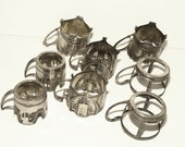 SHIPPING INCLUDED - Antique, Silver Tone, Silver Plate, Demitasse, Coffee Cup Holders, Old World, European, Elegant