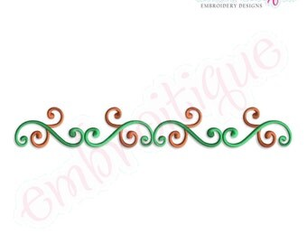 Shea Border Double Flourish - Small- Instant Email Delivery Download Machine embroidery design