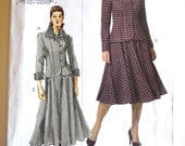 The Vogue Woman V8169 Misses Jacket and Skirt Size 8-12 UNCUT