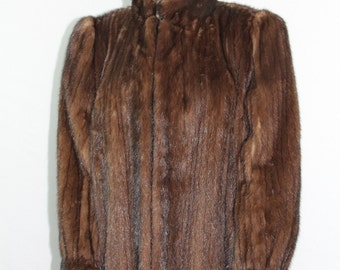 Vintage Mink Coat Fur - Lush Brown Mink Jacket