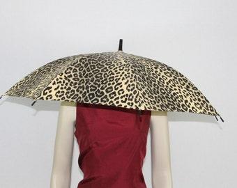 Vintage Umbrella - Leopard Print Vinyl Stylish Umberlla