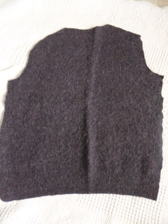 Felted Extra Fine Merino Wool Sweater Remnants Black