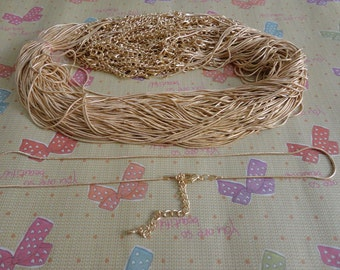 Get 25pcs of our gold Plated/ Snake Chain Necklaces/Jewelry supply/17 inch