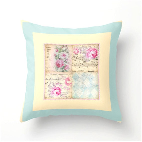 Shabby Chic Decorative Pillows : Shabby Chic Decorative Throw Pillow No.2 indoor or outdoor