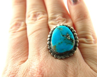 Turquoise Ring - Sterling Silver - Vintage