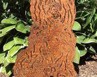 Tibetan Terrier Garden Stake or Wall Hanging / Garden Art / Pet Memorial / Shadow / Cut Out / Metal / Silhouette / Dog / Rusty