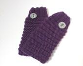 Fingerless Gloves, Hand Knit Gloves, Knit Gloves, Hand Warmers, Knit Hand Warmers, Purple Gloves Fiber Art, Womens Gloves, Fashion Gloves