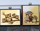 Vintage Baby Owl Wall Hangings Wooden