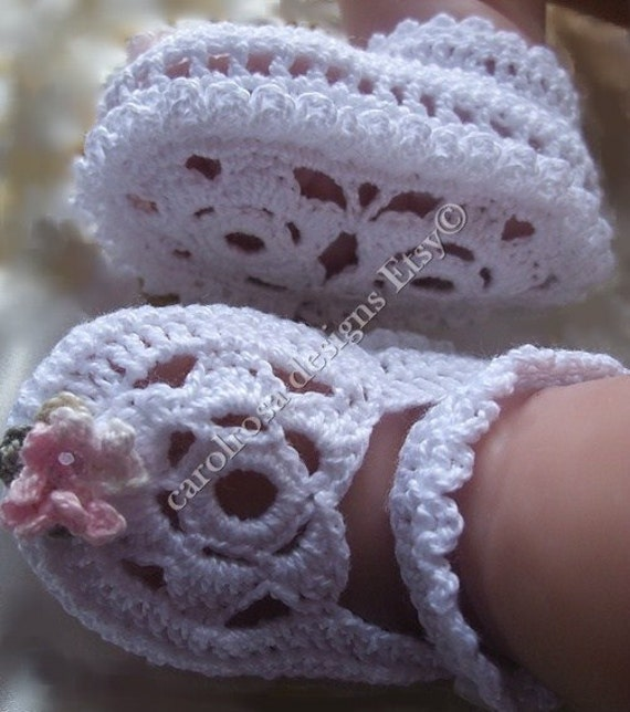 Crochet Pattern Crochet Baby Booties Beautiful by carolrosa