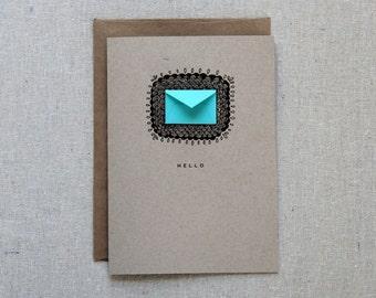 Hello Scallops - Tiny Envelopes Card