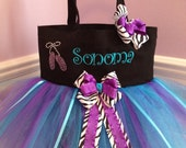 Dance Bag - With Ballet Slipper Bling and Embroidered Name