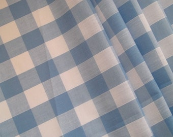 Light Blue Cotton Camper Van VW Curtains - Fully Lined - Custom Orders Taken