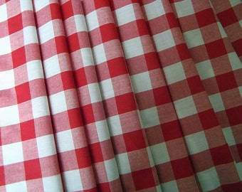 Red Gingham Cotton Camper Van VW Curtains - Fully Lined - Custom Orders Taken