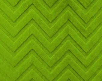 Shannon fabric, Jade Embossed Chevron cuddle minky, End Of Bolt