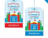 Bounce House Party - Personalized DIY printable favor tags