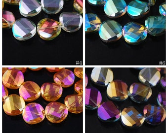 10pcs 18X18mm Exquisite Facted Crystal Glass Charms Loose Spacer Beads Jewelry Making Crafts Findings --- 11 Colors YX003