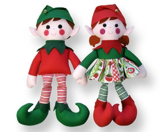 Christmas Elf Doll Sewing Pattern