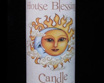 House Blessing Fixed 7 Day Spell Candle Peace & Blessings in the Home.  Health Happiness Prosperity.
