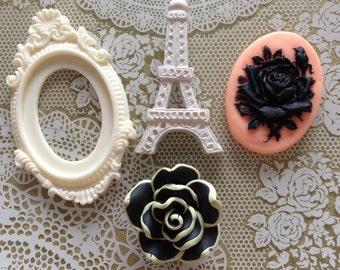 La Vie En Rose Assorted Resin Embellishments