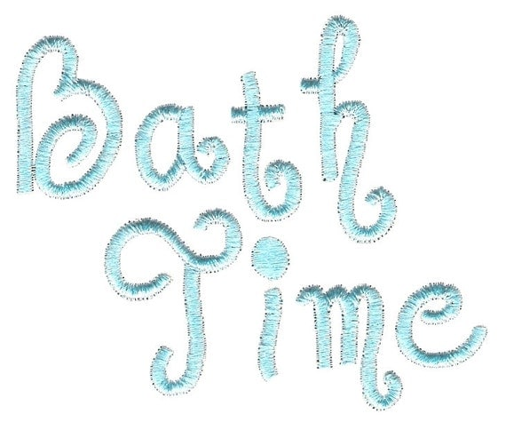 Baby machine embroidery design 4 x 4 bath time by embroidalot for Bathroom embroidery designs