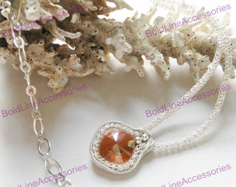 Champagne Swarovski Crystal Necklace