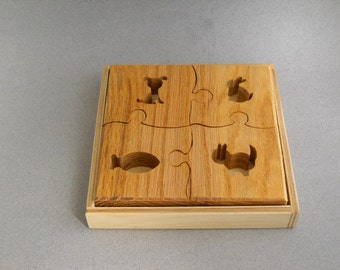 Childs teaching puzzle