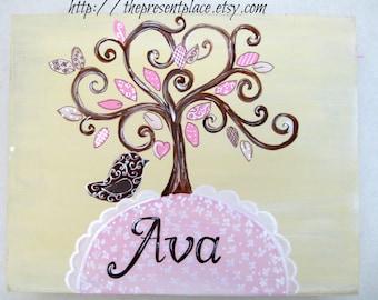 personalized gift set,new baby gift set,birth announcement,keepsake box,christening gift, baby naming gift,baptism gift,new baby gift,pink