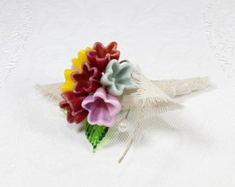 Mother of the bride corsage, Woodland wildflowers custom flower corsage, mother in law wedding pin