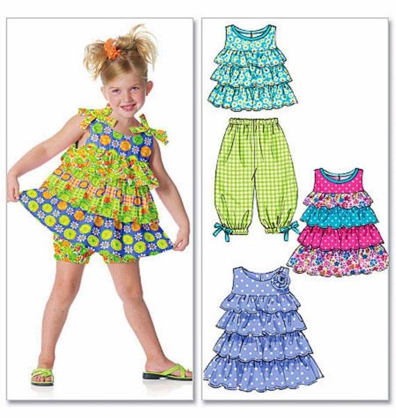 Little Girls Ruffle Dress Pattern Ruffle Top Pattern Capri