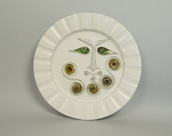 Bennington Potters Mid Century Face Plate