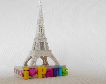 I LOVE PARIS Eiffel Tower 3D art